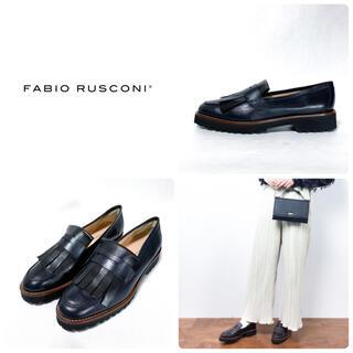 FABIO RUSCONI - ■定3.7万 ファビオルスコーニ キルト ローファー 39 24.5 パンプス