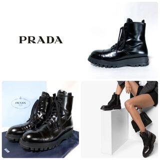 PRADA - ■美品 定16万 プラダ PRADA ショートブーツ 38 レースアップ