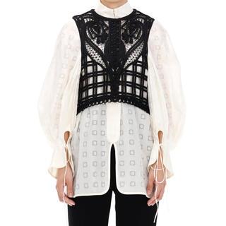 mame - 【Mame Kurogouchi】Cording Embroidery Vest