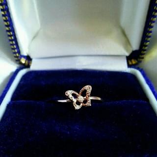 ヨンドシー(4℃)の4℃ 指輪 正規品 サファイヤ 宝石 蝶(リング(指輪))