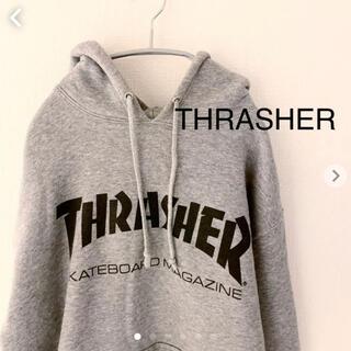 スラッシャー(THRASHER)のスラッシャー フーディー パーカー Lサイズ グレー THRASHER (パーカー)