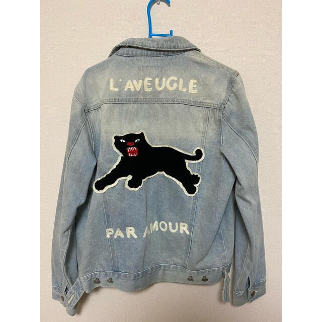 BTS テテ着用 パンサーデニムジャケット dude9  メンズのジャケット/アウター(Gジャン/デニムジャケット)の商品写真
