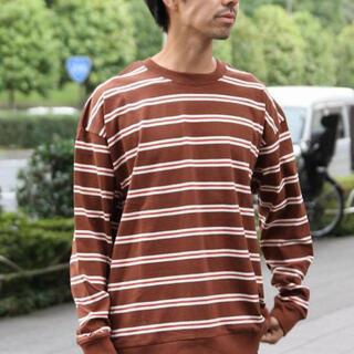 コーエン(coen)の【大幅値下げ】ビッグシルエットボーダーロングスリーブTシャツ(スウェット)