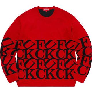 Supreme - SUPREME 20fw Fuck Sweater XL