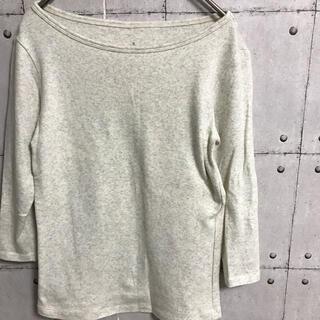 MUJI (無印良品) - 無印良品 MUJI 7分丈 tシャツ ロンT オフホワイト