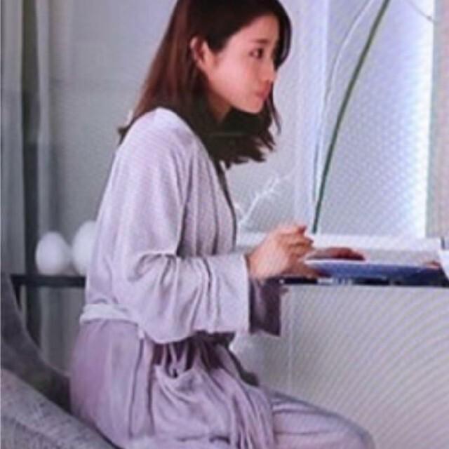gelato pique(ジェラートピケ)の石原さとみ着用♡ ベロアガウン ライトグレー レディースのルームウェア/パジャマ(ルームウェア)の商品写真