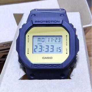 カシオ(CASIO)の【新品】G-SHOCK DW-5600BBMA ゴールド 海外モデル(腕時計(デジタル))
