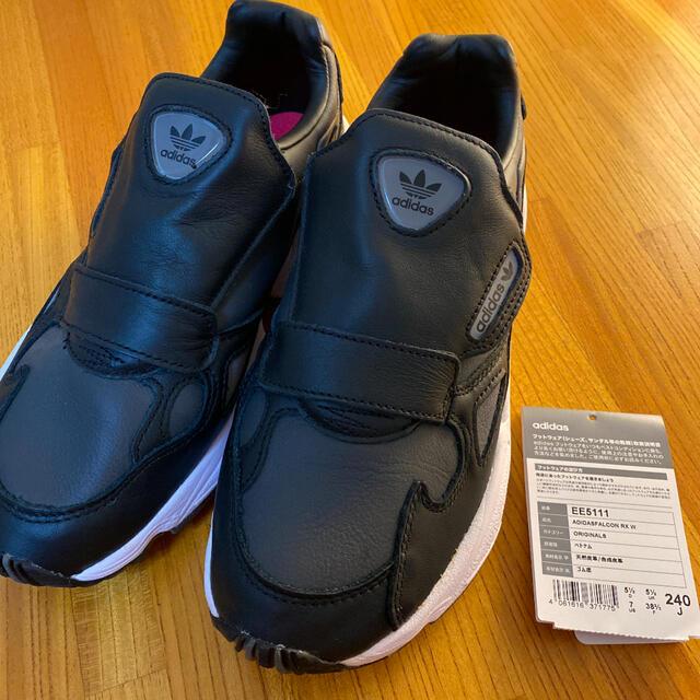 adidas(アディダス)の【値下げ】アディダス ファルコン スリッポンスニーカー 黒 24㎝ レディースの靴/シューズ(スニーカー)の商品写真