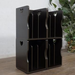 アウトレット 4個セット ブックスタンド 本棚 収納 仕切り版2枚(本収納)