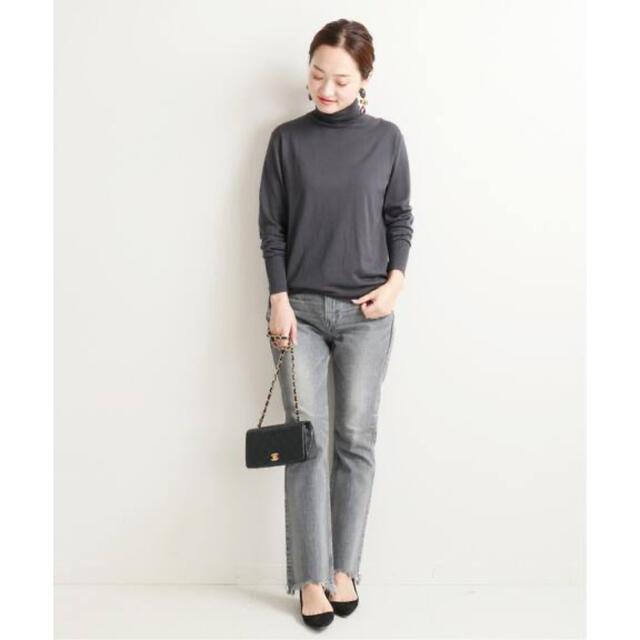 IENA(イエナ)のVERMEIL par iena ONTARIO タートルプルオーバー グレー レディースのトップス(ニット/セーター)の商品写真