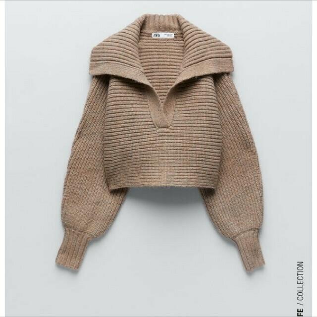 ZARA(ザラ)のクロップド ニット セーター レディースのトップス(ニット/セーター)の商品写真