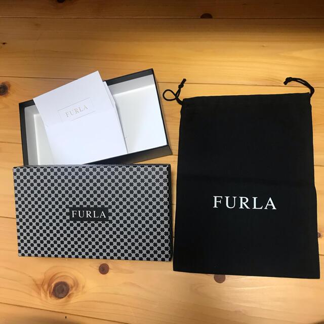 Furla(フルラ)のフルラ 黒 保存袋 箱 メッセージカード インテリア/住まい/日用品のオフィス用品(ラッピング/包装)の商品写真