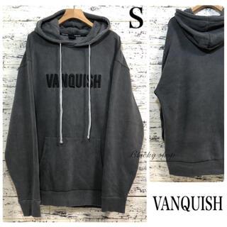 ヴァンキッシュ(VANQUISH)のVANQUISH バンキッシュ ビッグ シルエット パーカー S 刺繍 ロゴ(パーカー)