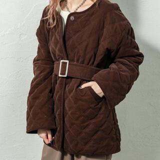 mystic - mystic 2020AW キルティングジャケットコート