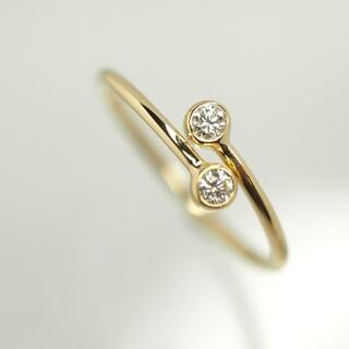 Tiffany & Co. - TE!TIFFANY&Co. ティファニーダイヤ イエローゴールド リング 指輪
