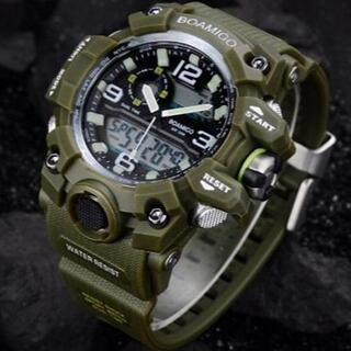 ■2020新品!■ ダイバーズウォッチ カーキベゼル メンズ レディース 腕時計(腕時計(デジタル))