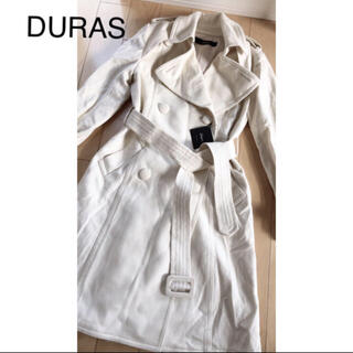 デュラス(DURAS)のDURAS ホワイト コート 綺麗目(ロングコート)