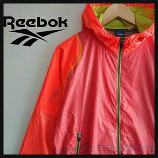 リーボック(Reebok)の948 美品 リーボック ナイロンジャケット 胸 ・ アーム ロゴ(ナイロンジャケット)