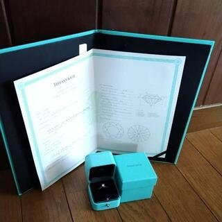ティファニー(Tiffany & Co.)のTIFFANY❤️ソリティア ダイヤモンド リング❤️鑑定書❤️(リング(指輪))