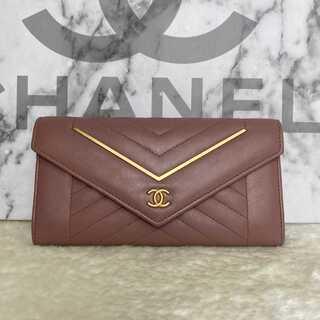 シャネル(CHANEL)の激レア極美品✨シャネルVステッチ長財布 (財布)