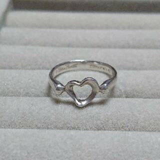 ティファニー(Tiffany & Co.)のTIFFANYのオープンハートのリング(15号)(リング(指輪))