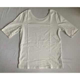 ラトータリテ(La TOTALITE)のラトータリテ 5分袖カットソー(ホワイト)新品(カットソー(半袖/袖なし))