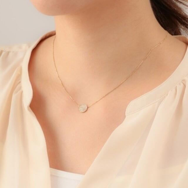 agete(アガット)の専用 週末限定お値下げ アガット マイクロセッティング  ダイヤ ネックレス レディースのアクセサリー(ネックレス)の商品写真