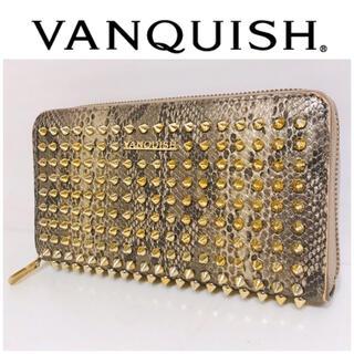ヴァンキッシュ(VANQUISH)のスタッズ×パイソン■VANQUISH ヴァンキッシュ 財布 ラウンドファスナー(財布)