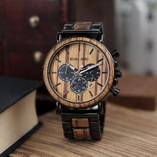 天然ウッド ボボバード 木製 腕時計(腕時計(アナログ))