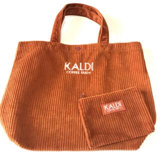 カルディ(KALDI)の★ カルディ ウインター トートバッグ ポーチ付き(トートバッグ)