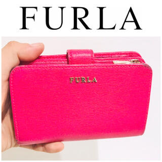 フルラ(Furla)の大丸購入■ピンク■レザー■フルラ FURLA 財布 L字ファスナー レディース(財布)