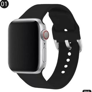 Apple Watch ソフト バンド 42/44mm ブラック(ラバーベルト)