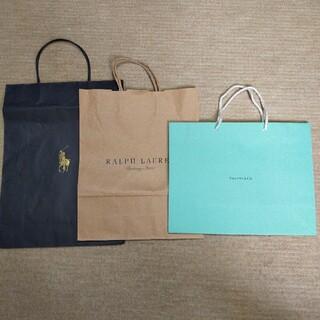 ティファニー(Tiffany & Co.)のTIFFANY &Co.、RALPH LAUREN 紙袋3枚(ショップ袋)