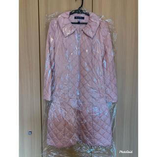 エムズグレイシー(M'S GRACY)のエムズグレイシー   キルティング 中綿 コート ピンク(ロングコート)