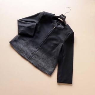 ANAYI - 4.5万■アナイ■ 38 黒 グレーグラデ ショートコート