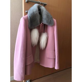 ミュウミュウ(miumiu)のMIU MIU ミンク襟付きジャケット(テーラードジャケット)