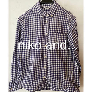niko and... - ニコアンド ギンガムチェックシャツ