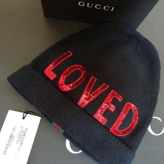 グッチ(Gucci)の正規店購入 グッチ ウール ニット帽 新品 サイズ L(ニット帽/ビーニー)