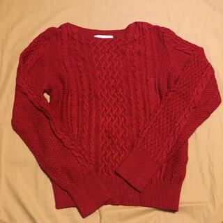 anySiS - エニィスィス:レッド セーター カシミヤ混