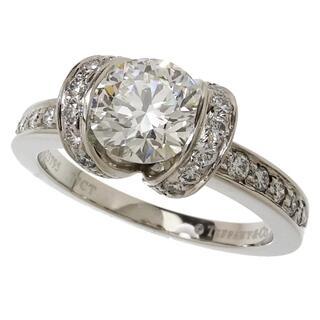 ティファニー(Tiffany & Co.)のティファニー リング・指輪 リボン Pt950 ダイヤモンド(リング(指輪))