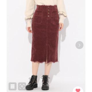 ヘザー(heather)のヘザー コーデュロイスカート(ひざ丈スカート)