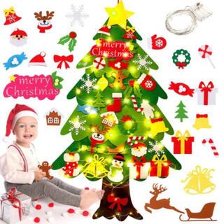 クリスマスツリー壁掛けフェルトタペストリーオーナメント雑貨おもちゃプレゼント