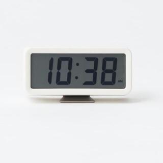 MUJI (無印良品) - 【新品】MUJI デジタル時計・小(アラーム機能付)