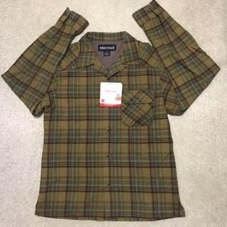マーモット(MARMOT)の新品 定価17380円 メンズ M マーモット wool混チェックシャツ(登山用品)