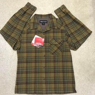 マーモット(MARMOT)の新品 定価17380円 メンズ S マーモット wool混チェックシャツ(登山用品)