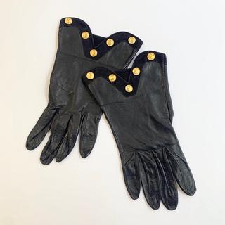 ロエベ(LOEWE)のSALE★LOEWE ロエベ 手袋 ブラック レディース レザー ブランド手袋(手袋)