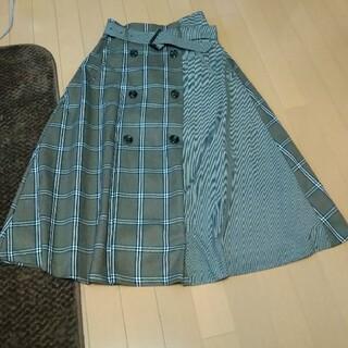 ミスティウーマン(mysty woman)のミスティーウーマン可愛いチェック柄スカート(ひざ丈スカート)