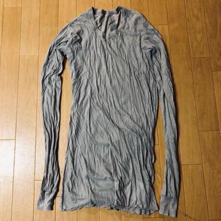リックオウエンス(Rick Owens)のrick owens ロングスリーブ T パール(Tシャツ/カットソー(七分/長袖))