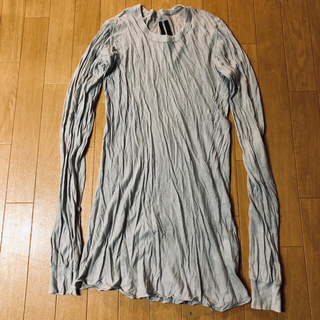 リックオウエンス(Rick Owens)のrick owens ロングスリーブ Tシャツ アッシュ(Tシャツ/カットソー(七分/長袖))