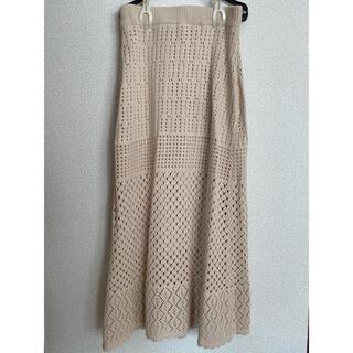 ナイスクラップ(NICE CLAUP)のNICE CLAPニットスカート(ロングスカート)